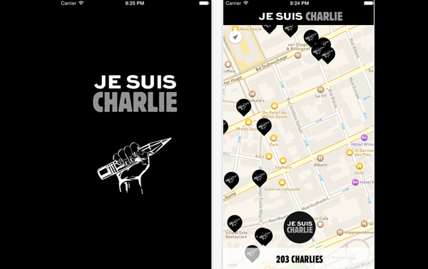 Application Je suis charlie