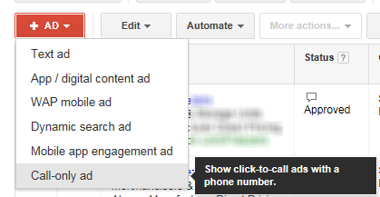 Call only ads