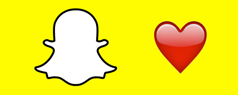 Signification coeur rouge snapchat