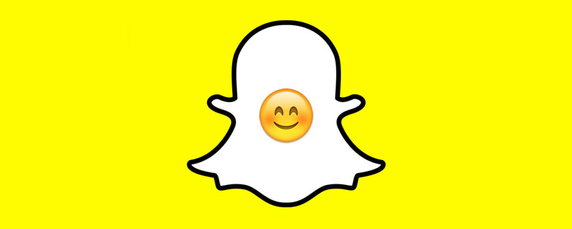 Smiley souriant snapchat