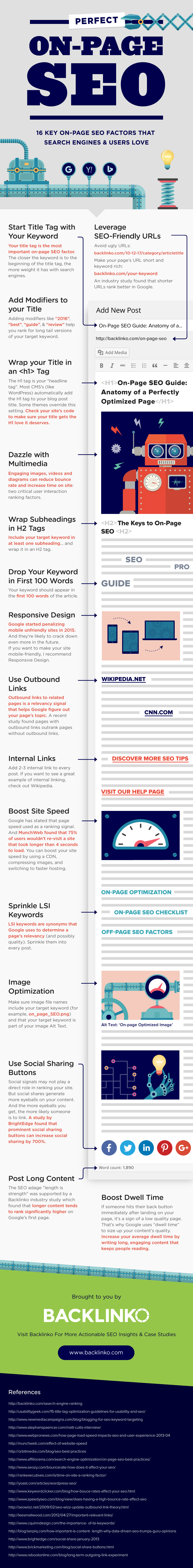 infographie on page SEO