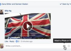 commentaire video facebook