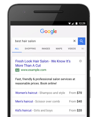 extensions prix adwords