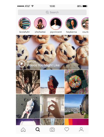 instagram stories discover