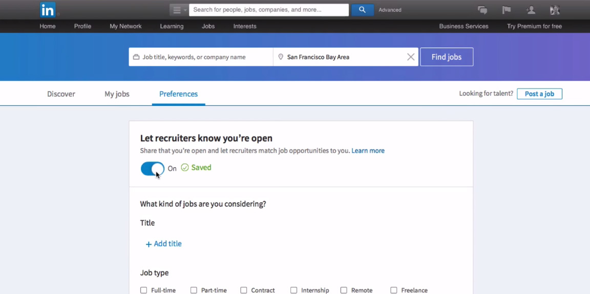 open candidates linkedin