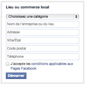 Lieu ou Commerce Local - Facebook