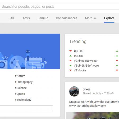 Ce qui est populaire sur Google+ évolue !