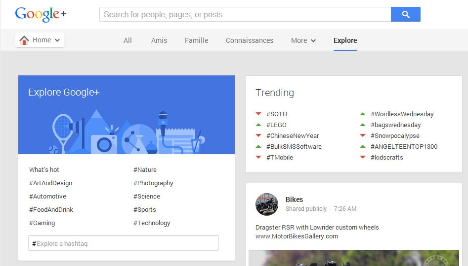 Populaire sur Google+