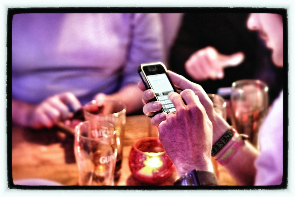 Smartphones en soirée