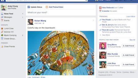 Facebook présente un nouveau design pour 2014 !