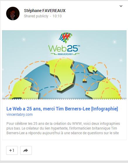 Google+ liens
