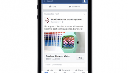 Acheter directement depuis Facebook