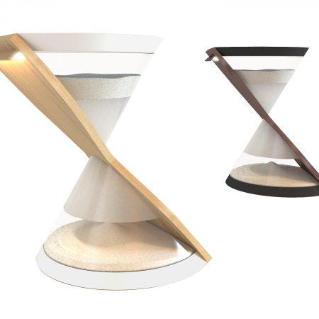 Une lampe sablier écologique à énergie cinétique