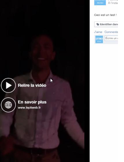 Du Call-To-Action sur les vidéos Facebook