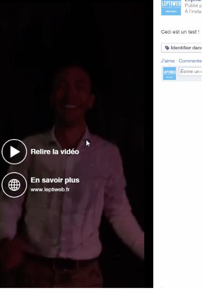 CTA Vidéo Facebook