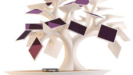 Electree : un bonzai photovoltaïque pour recharger votre téléphone