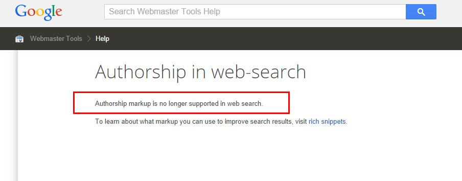 Fin de l'autorship Google