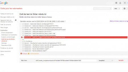 Nouvel outil pour tester le Robots.txt dans Webmaster Tools