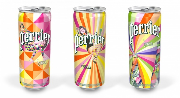 Design Canettes Perrier Kobra