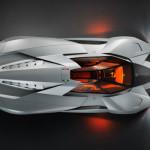 Vue du dessus Lamborghini Egoista