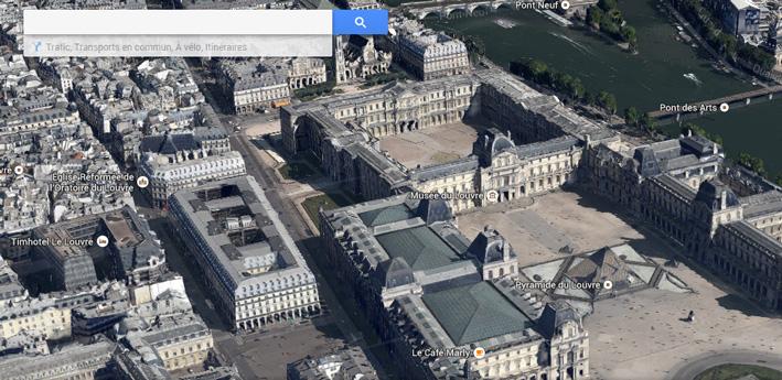 Louvre Google Maps 3D