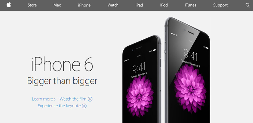 Nouveau site Apple iPhone 6