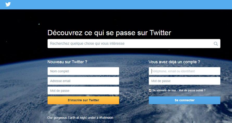 Nouveau Webdesign Twitter