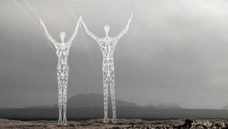 Des pylônes électriques design en Islande !