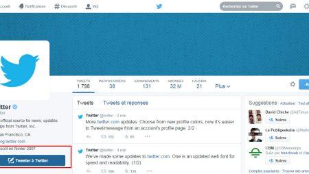 Nouveautés Twitter : police, boutons de conversation, couleurs du profil