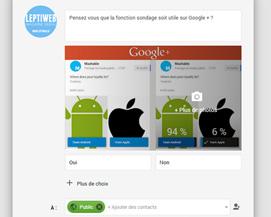 Créer un sondage sur Google Plus