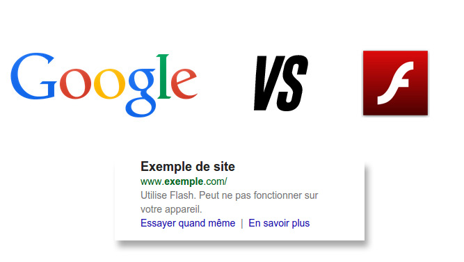 Google France pénalise Site Flash