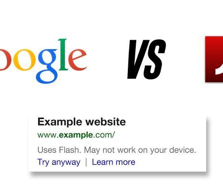 Message d'avertissement sur mobile : les Sites Flash pénalisés par Google ?