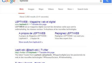 A/B Testing : Google teste la non mise en gras des termes recherchés