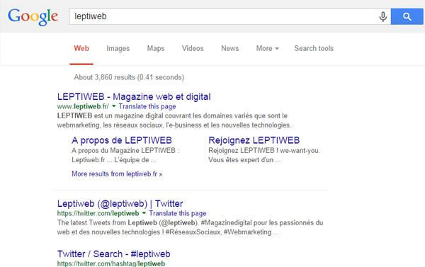 Leptiweb A/B Testing Google