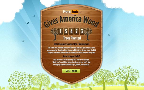 Ecologie : PornHub contraint par ses visiteurs de planter plus de 15 000 arbres !