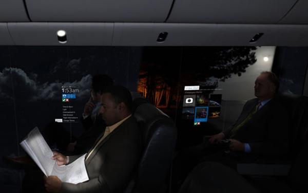 Avion transparent CPI écrans OLED