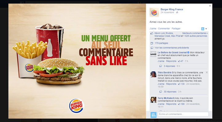 Burger King Commentaire Sans Like