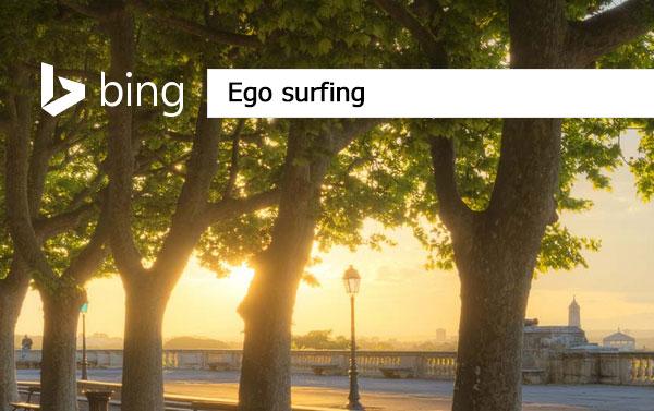 Ego surfing Bing