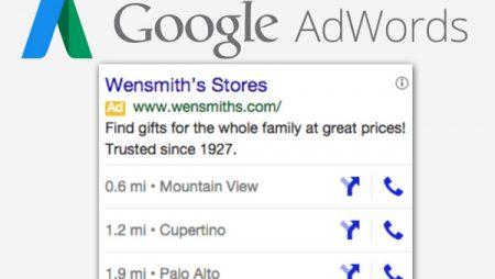Google Adwords : jusqu'à 3 adresses en extension d'annonces désormais possible sur mobile !