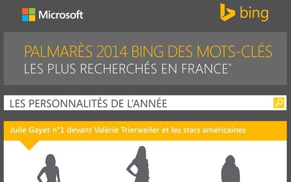 Palmares mots clés Bing 2014