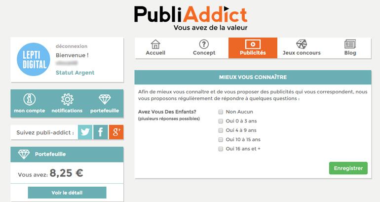 Gains PubliAddict