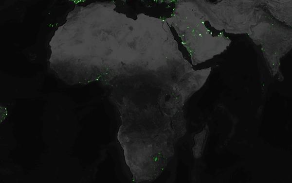Cartographie Tweets Afrique