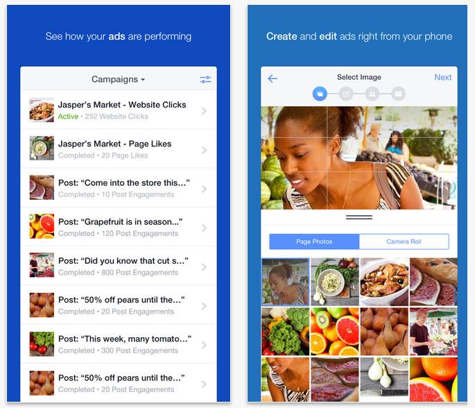 Application Facebook Ads Manager