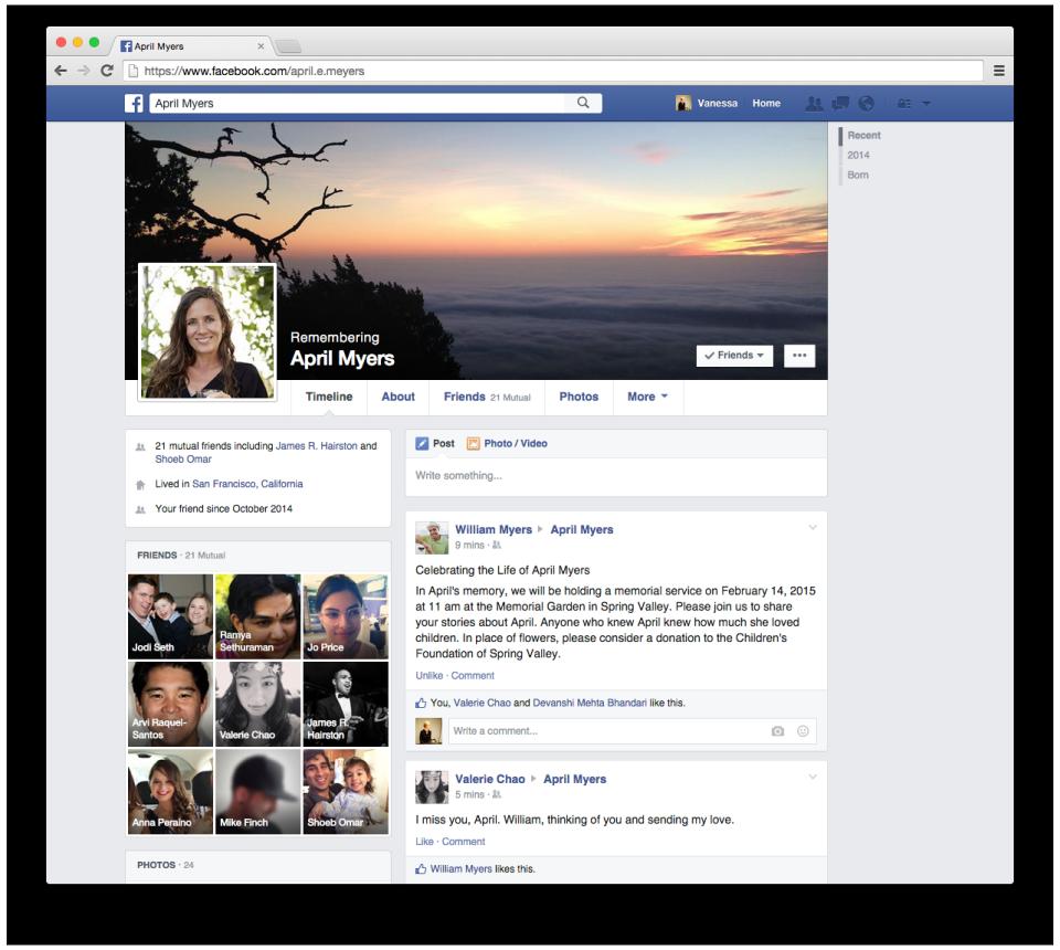 En souvenir de Facebook