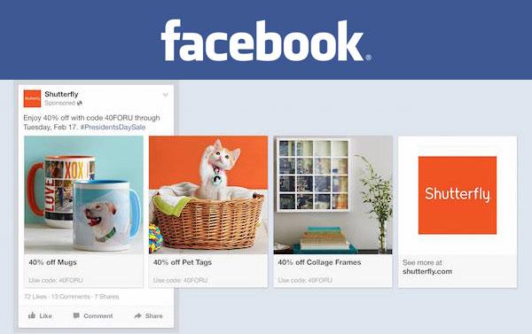Publicités multiproduits Facebook