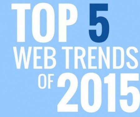 Infographie : Top 5 des tendances Web Design de 2015 !