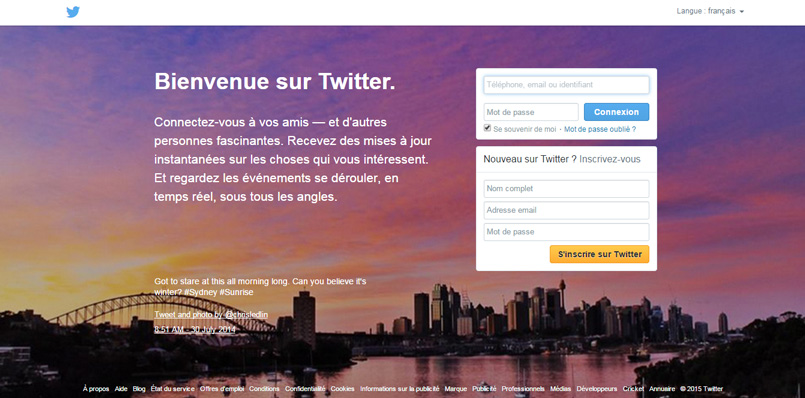 Ancienne home Twitter