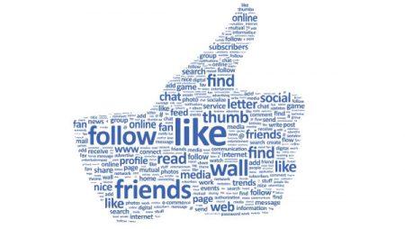 Quelle est la portée et le taux d'engagement moyen des pages Facebook en 2015 ?
