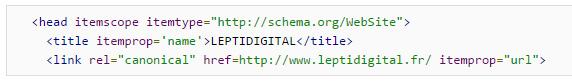 Exemple code schema