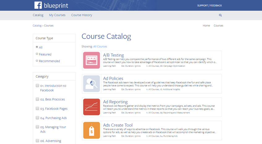 Facebook Blueprint Formation Gratuite